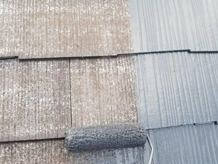 屋根 上塗1回目