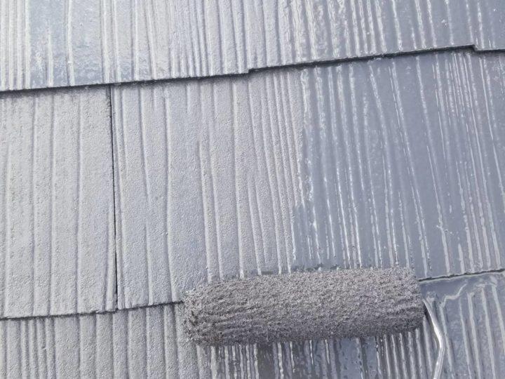 屋根 上塗2回目
