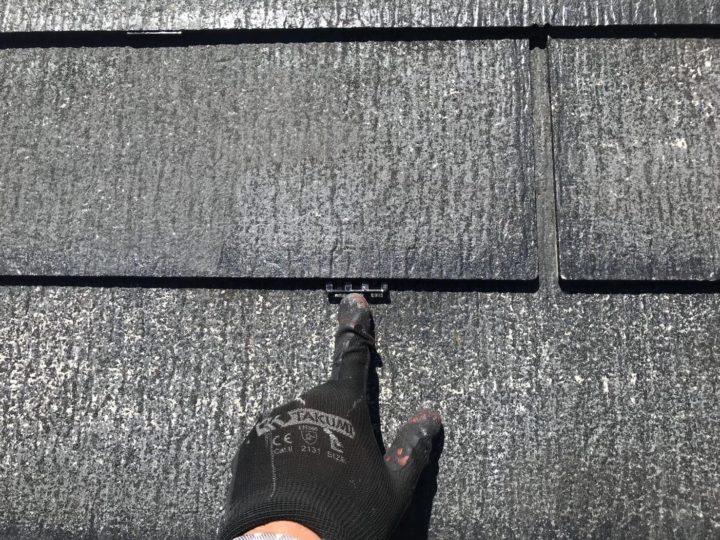 屋根 縁切り作業
