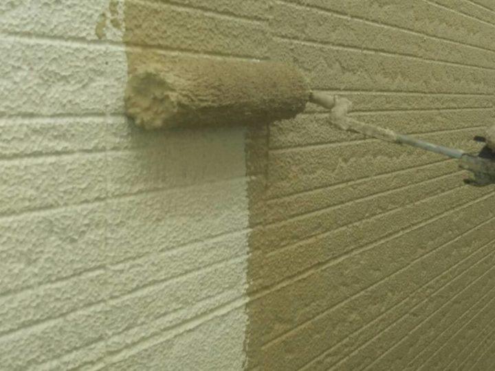 外壁 上塗り(1回目)