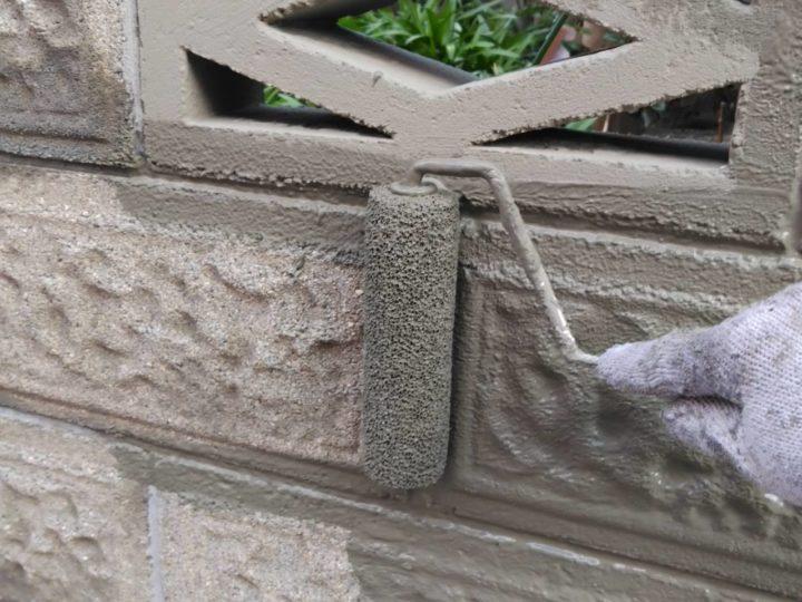 ブロック塀 下塗り