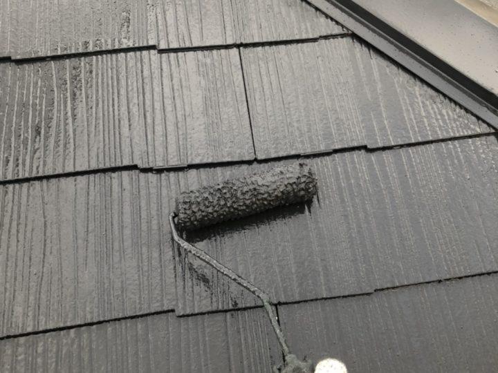 屋根 上塗2回目(薄付)