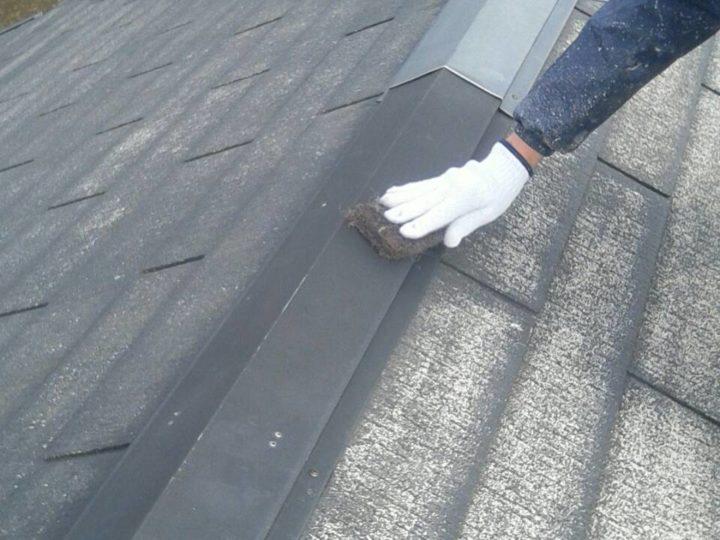 屋根 鉄部錆落し