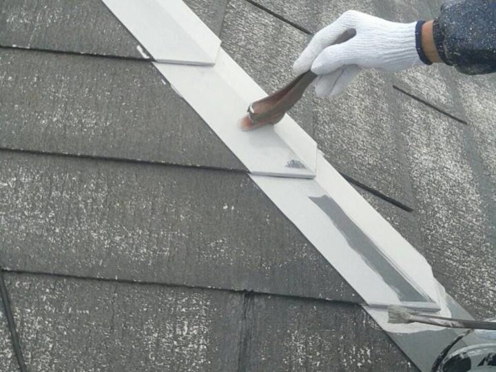 屋根 鉄部下塗り