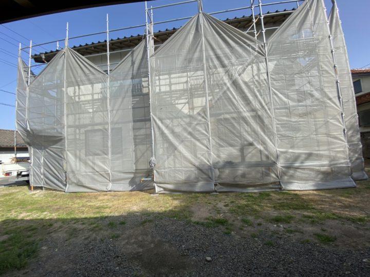 足場仮設工事 完了