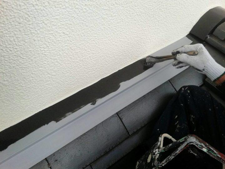屋根水切り 上塗り1回目