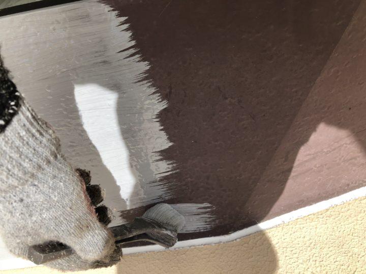 出窓屋根 錆止め