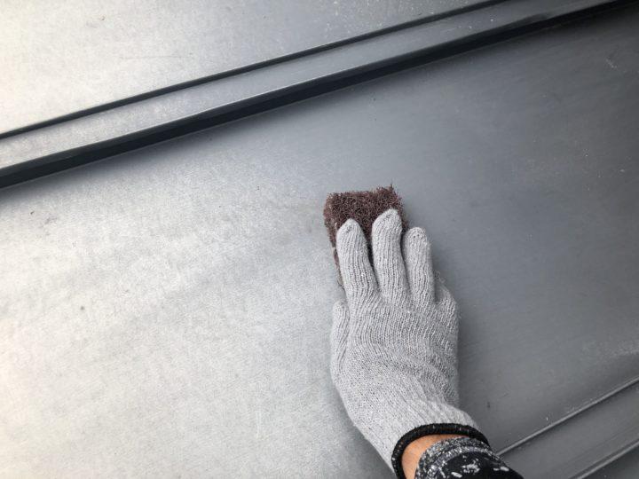 GL(ガルバリウム)鋼板屋根(錆落し)