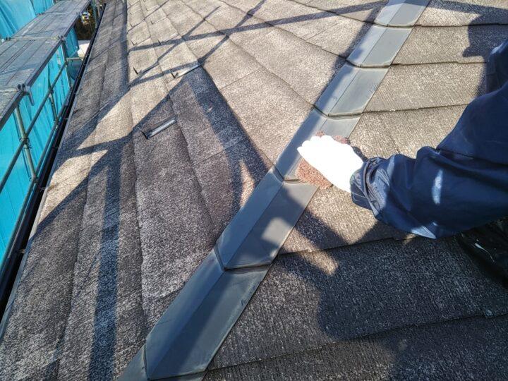 屋根 ケレン(錆落し)