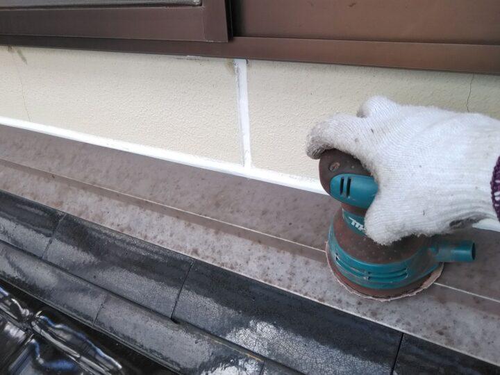 屋根水切り ケレン(錆落し)