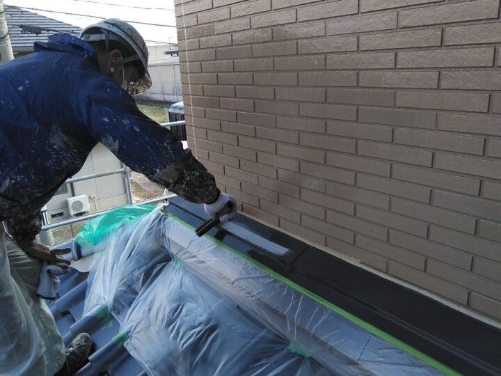 屋根水切り 上塗り