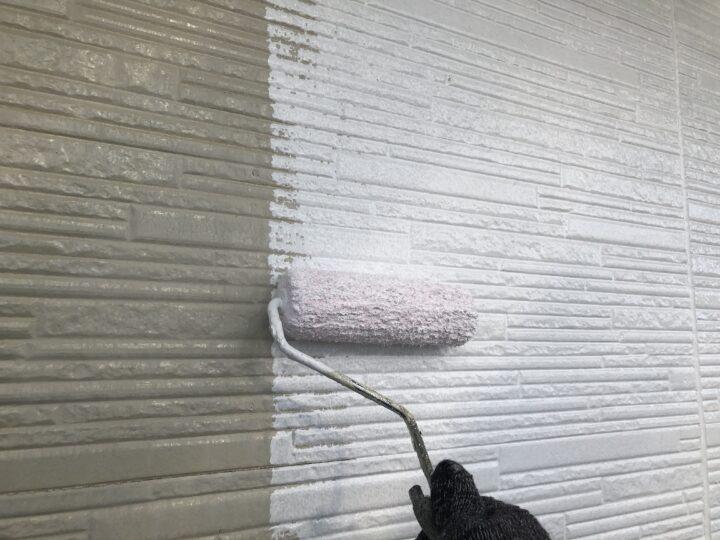 外壁下塗り(2回目)
