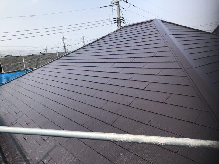 屋根上塗り(2回目)