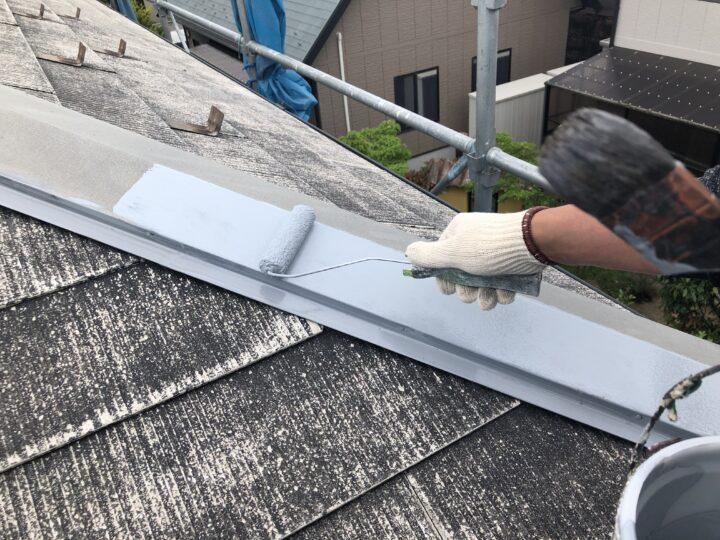 屋根板金下塗り