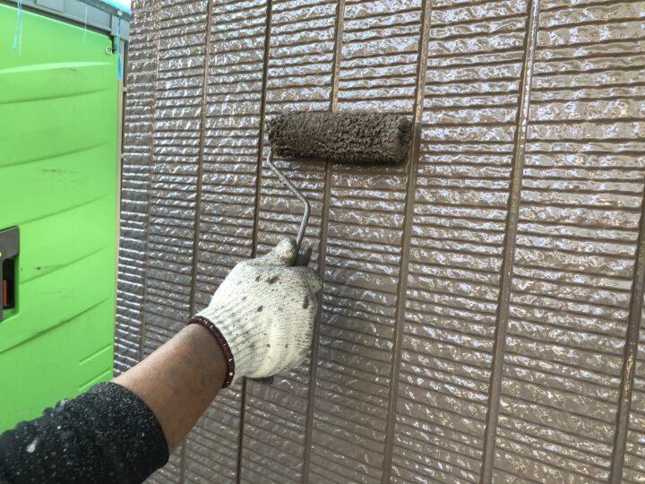 外壁上塗り2回目(薄付)