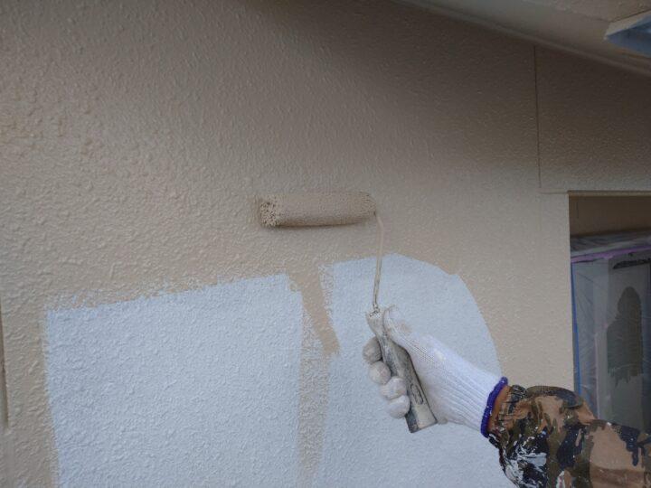 外壁上塗り(1回目)
