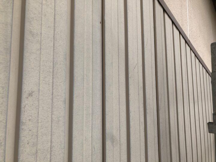 外壁鉄板面 施工前