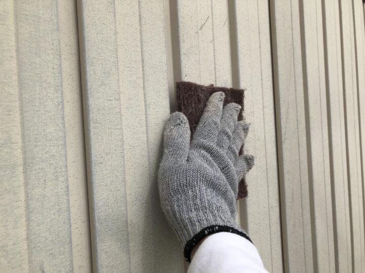 外壁鉄板面 ケレン