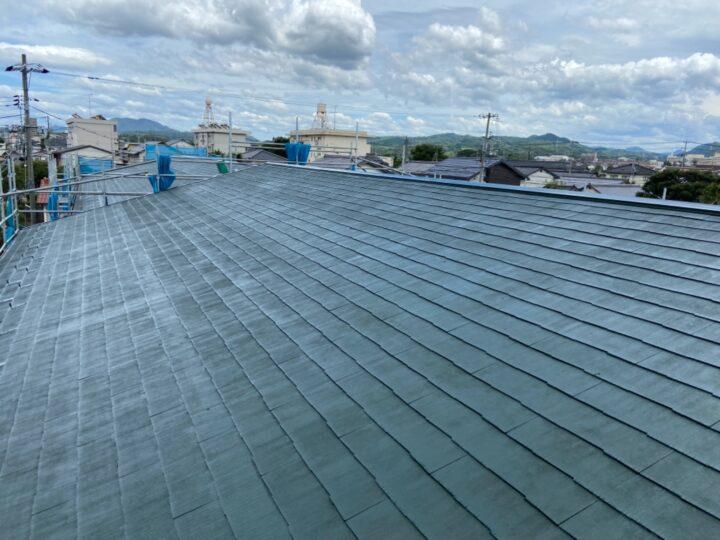 屋根 上塗り1回目 完了